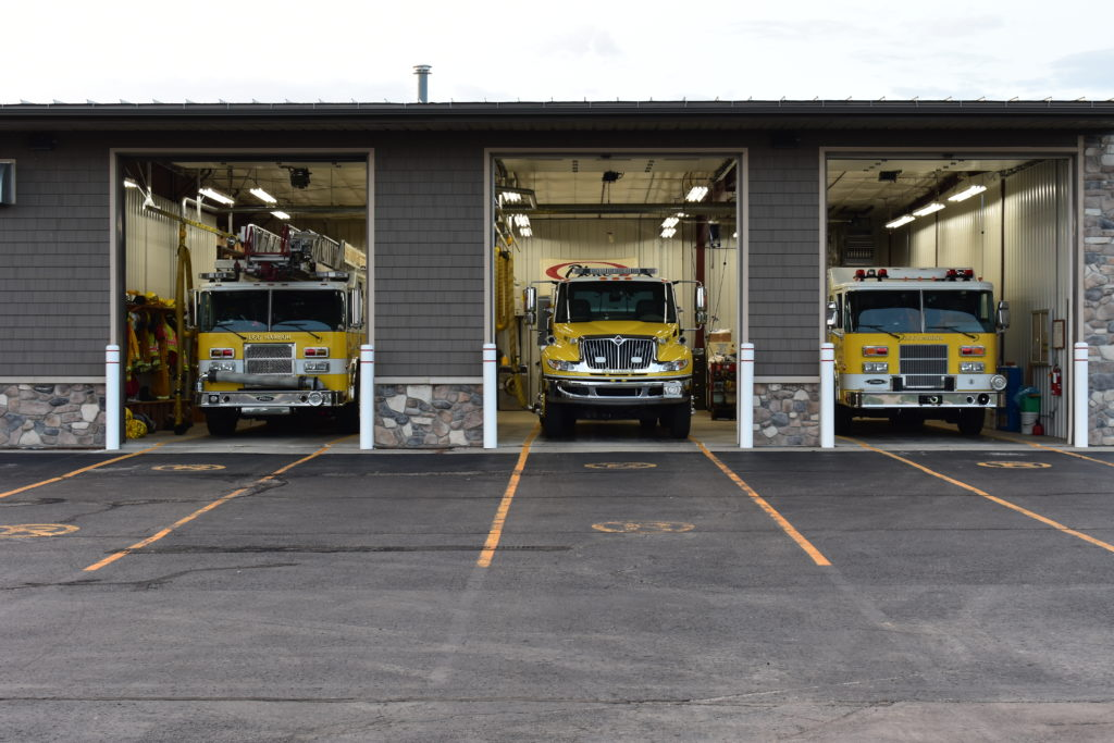 Fire Station #2 with Truck 21, Tender 7, and Squad 24